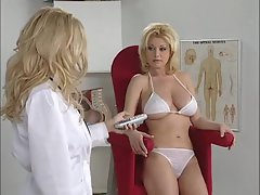 Filthy doctor and her patient have mega big melons and look filthy