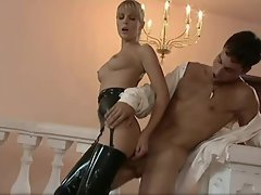Young lady is flawless in latex and gets eaten out
