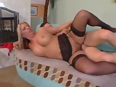 Tattooed big titty cougar marvelously banged