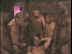 Gay backdoor gangbang with wild body dolls