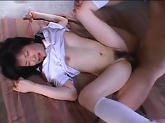 See the flawless knockers on a shagged Seductive japanese young lady