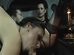Sex in a limousine with two insanely lewd wenches