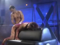 Tied up lassie Daisy Marie banged in her dungeon