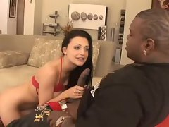 Ebony man and amazing Aletta Ocean oral sex