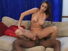 Sensual girlie with large fantasic juggs sits on BBC