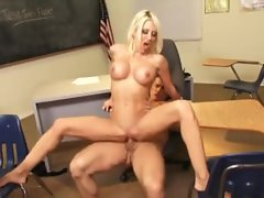 Classroom sex with the tattooed cougar pornstar