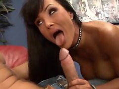 Lisa Ann in fishnets suck and fuck