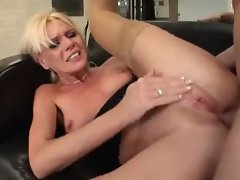 Stunning petite titties blond chick banged in the butt