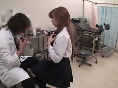 Asian girlie visits the doctor for an exam
