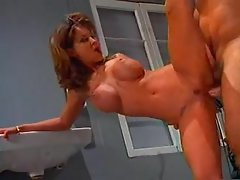 Redhead Audrey Hollander does unbelievable double fisting