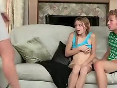 Mum Demonstrates Daughter How To Suck Penis