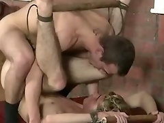 Alluring restrained twink getting his naughty ass grinded rough