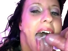 Bukkake fetish euro bitch fuck suck and facials