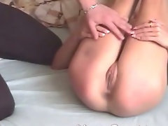 spanked while stroking dick