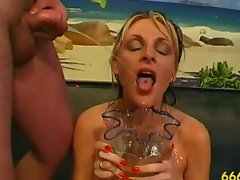 Fetish nympho shagged and piss drenched
