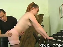 Slutty girl gets knockers pinched