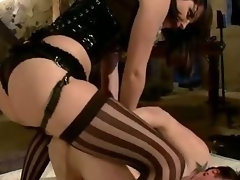 Extreme fantasy of lady bound and double