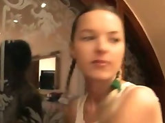 Two portuguese randy chicks dildoing holes