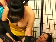 Glam lesbos fetish slutty chicks get soaked