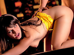 Shaft addict slutty girl lets her lover feast over her body then she gets banged slowly