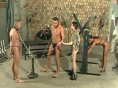 Exciting BDSM session with nude male