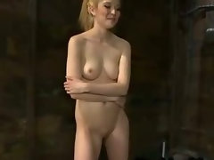 Tempting blonde bangs machine and cums and then rides Sybian