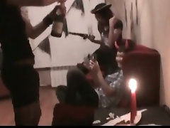 Inky Halloween lezzy crazy threesome action