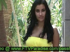 Virgin Top heavy Dark haired Posing Outdoor