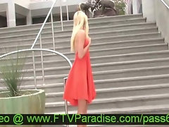 Virgin Filthy Blondie Posing Outdoor