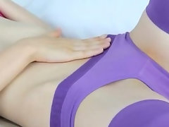 exciting purple lingerie