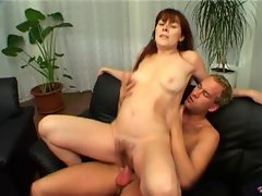 Amateur RedHead Cougar Marie Bangs Younger Chap