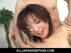 Wench Airi Nakajima accepts on two throbbing penises at once