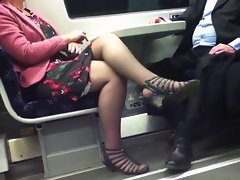 Candid Luscious Crossed Legs 8. Filthy Mature! (+slow motion)