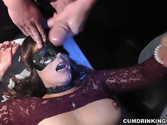 Dirty wife gets 47 cumshots at one party!