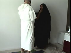 Arab hijab husband indulges