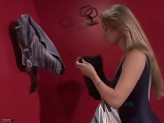 Young lady change room voyeur video