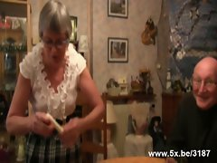 French granny banged with sextoys