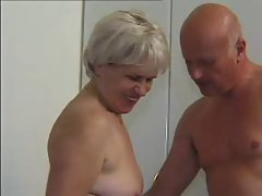 GRANNY AWARD 47 shaggy attractive mature with a aged man
