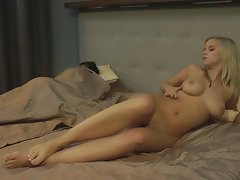 juicy light-haired fingering