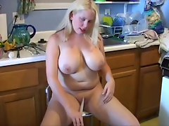 Mature whore kitchen fun