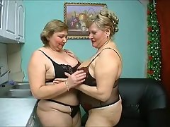 two aged plump solid have mad sex in ebony lingerie