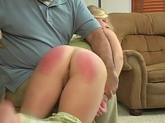 Grounded girlie spanked