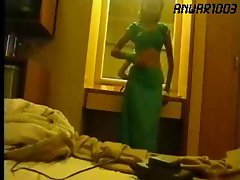 Bony Chick in Green Saari, must watch