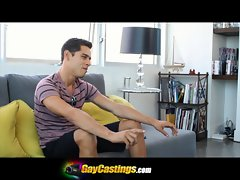 GayCastings Nervous Amateur with Extremely large dick