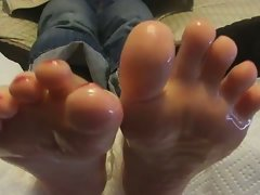 Lovely feet oiled tops and soles