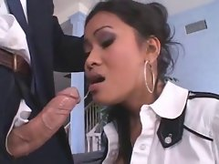 Nice looking asian Priva facefucked