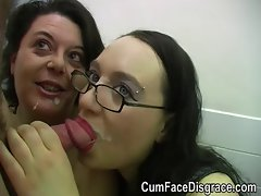 Cumming into two aged ladies mouths