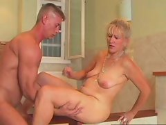 Luscious Momma 71 blond experienced and a 19 years old man