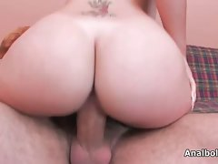 Luscious light-haired chick gets her vagina crushed