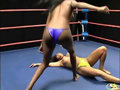 topless catfight of two beauties, nice looking brutal actually